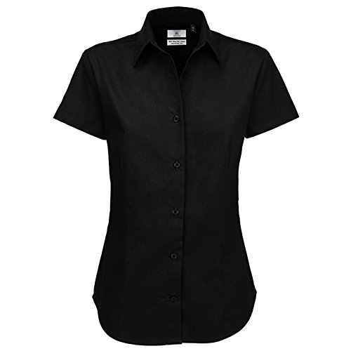 B&C Collection Damen Modern Bluse Schwarz