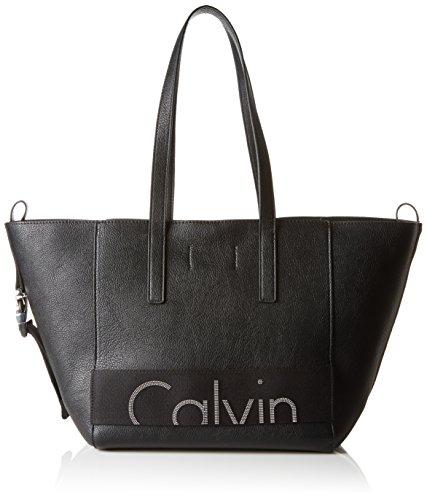 Calvin Klein Jeans RE-Issue # Tote PU, Sac Femme, Noir (Black), 18 x 29 x28 cm (B x H x T)