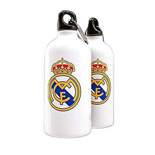 Real Madrid botella de aluminio