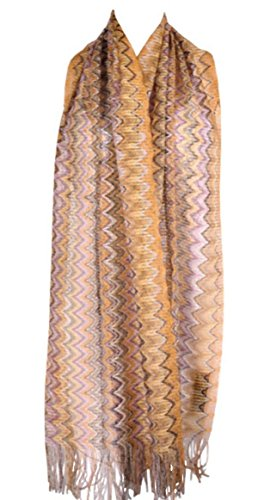 Missoni Designer Schal Scarf Scialle Sciarpa 40 x 185 x 11cm - Orange Label - TH (Missoni Schals Damen Accessoires)