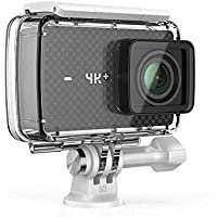 YI 4K Plus Action Camera Black 4K/60fps 12MP 5,56cm 2.2Inch LCD Touchscreen Bundled with Yi Waterproof Casing, WiFi and Command, App for iOS/Andriod (EU Version)