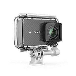 YI 4K Plus Action Kamera Schwarz 4K/60fps 12MP Sensor 5,56 cm (2,2 Zoll) LCD Touchscreen gebündelt mit YI wasserdichtem Gehäuse, Sprachbefehl, Wifi und App für IOS/Andriod (EU Version)