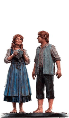 Lord of the Rings Señor de los Anillos Figurine Collection Nº 151 Sam & Rosie 1
