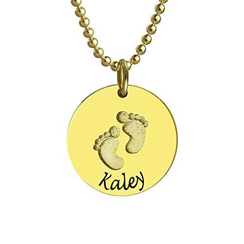 Collienght Thanksgiving Halloween 925 Sterling Silber Name benutzerdefinierte Halskette(vergoldeter Sockel 22)