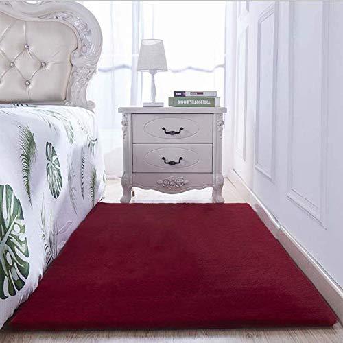 lafzimmer Nacht Teppich Wohnzimmer einfarbig c Nachahmung Kaninchen Pelz Carpet Fenster Fenster Carpet 200x300 cm ()
