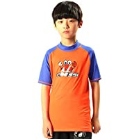 Cressi Rash Guard Short Jr , Unisex Niños, Naranja (Orange/Blue Royal), 11/12 años 152 cm