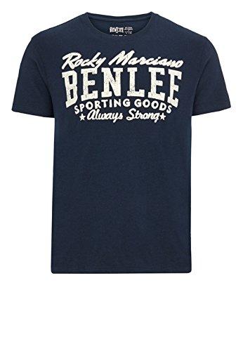 BENLEE Rocky Marciano Herren Men Regular Fit T-Shirt Retro Logo Dunkelblau, L