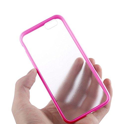 Phone case & Hülle Für iPhone 6 Plus / 6S Plus, TPU Stoßfänger + Kunststoff zurück Fall ( Color : Gold ) Magenta