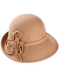 TianMI cappello Cappello da Donna in Cotone Invernale da Donna con Cappello  A Bombetta Sombrero in 2ace8aefe84f