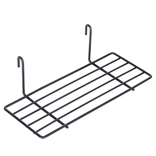 kufox Gerade Ablage für Grid Panel Display, stabilem Draht Organizer Bin Aufbewahrung Wand Wandhalter Montieren Storage Basket Rack (Bins Draht-rack Storage)