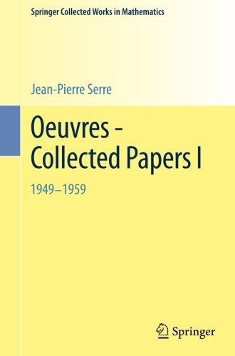 Oeuvres - Collected Papers I: 1949 - 1959