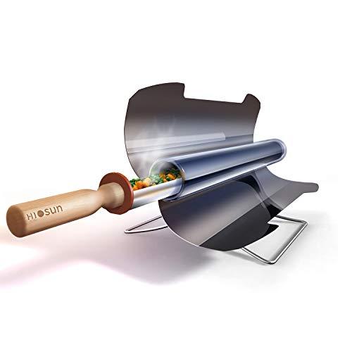 L.HPT Tragbarer Solarkocher/Herd/Ofen/BBQ-Grill, BBQ Tragbarer Solarkocher BBQ-Herd Lebensmittelqualität rauchfrei faltbar Edelstahl, einfach lecker und vielseitig für 3-5 Personen -