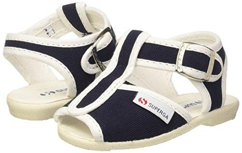 SUPERGA 1200 COTJ, Sandali con Cinturino a T Unisex Bambini, Blu (Navy 940), 24 EU