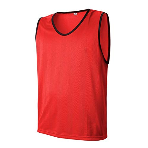 T-Shirts Mesh Fußball Trainingsanzug Weste Trikots Westen Basketball Fußball Fußball Volleyball Team Trainingsweste Erwachsene Kinder Lässig Bequem (Farbe : C3, Größe : XL) (Mesh-fußball-trikot)