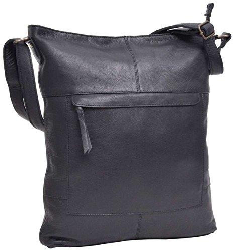 Gusti Handtasche Leder Studio Maola Umhängetasche Shopper Ledertasche Damen Black