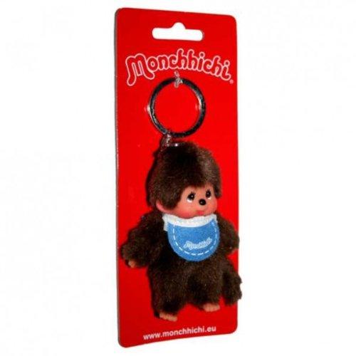 Monchhichi - Schlüsselanhänger Junge blau 10cm