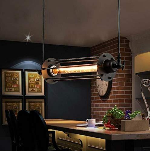 Lámparas colgantes de la flauta de la vendimia, lámpara pendiente retra industrial para la barra de la isla de la cocina Sala de estar E27 220V luminaria