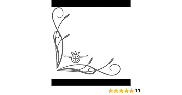 Myrockshirt Dafaufkleber Seitenscheibe Scheibe 27x27cm Lkw Truck Trucker Aufkleber Anhänger Sticker Bonus Testaufkleber Estrellina Glückstern Gedruckte Montageanleitung Versa Auto