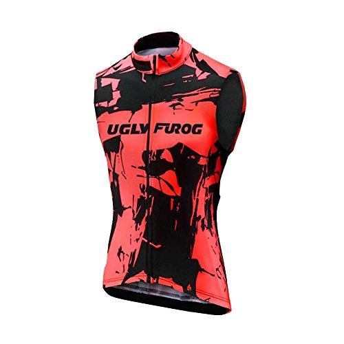 Uglyfrog Thermo Radtrikot Ärmellos Vest Herren Mode Sport & Freizeit MTB Fahrradbekleidung Radsport Hemd Fleece Gemütlich Anti-kalt