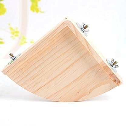 XMSSIT Bird Platform Perch Stand Wood for Small Animals Parrot Parakeet Conure Cockatiel Budgie Gerbil Rat Mouse Chinchilla Hamster Cage Accessories Exercise Toys Sector 5