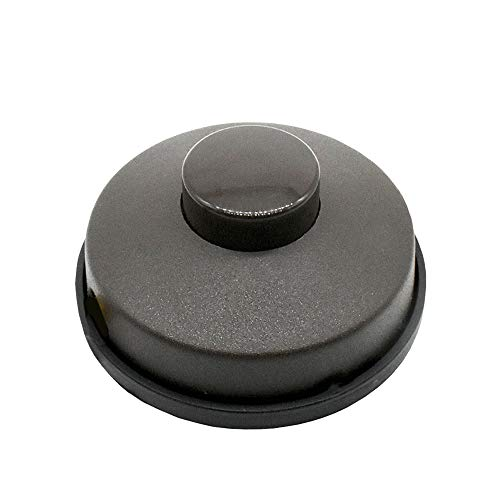 Fußtretschalter Braun 250V rund Fußschalter für Steh- und Tischleuchten Schnurzwischen-Schalter für Kabel 3G/2G 0,75mm² incl. Klemmen