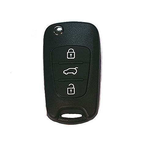 Jurmann Trade GmbH® KIA 1x Ersatz Schlüsselgehäuse - 3 Taste Autoschlüssel ks06 Klappschlüssel mit Rohling Schlüssel Fernbedienung Funkschlüssel Neu Gehäuse ohne Elektronik