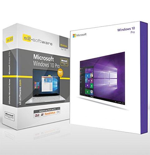 Microsoft® Windows 10 Professional (PRO). ISO CD / DVD. 32 bit & 64 bit. Deutsch. Original Lizenz.