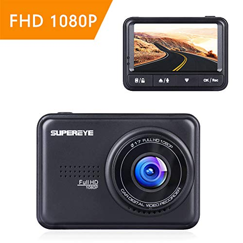 SuperEye Dashcam Auto Dash Camera Auto Autokamera Mit Bewegungserkennun G-Sensor Sony-Linse Nachtsicht Full HD 1080P Mini Dash Cam 170°DVR Rekorder WDR Loop-Aufnahme Parkmonitor