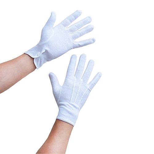 Oblique-Uniuqe® Weiße Handschuhe aus Baumwolle für Herren (Kostüm Handschuhe Weiße)