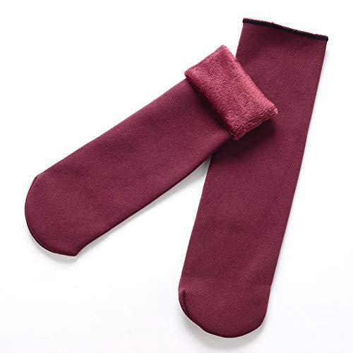 1 Paar Winter-Socken für den Winter, warm, lässig, weich, dick, für Skate/Stiefel/Snowboard-Socken für Damen und Herren, Rot (8-snowboard-stiefel Größe)