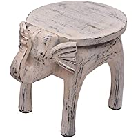 Store Indya, Vintage Style Elephant legno Table Stand Portable Outdoor