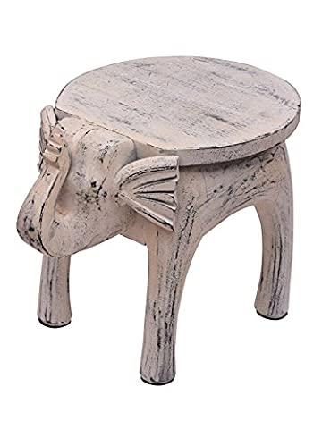 Store Indya, Vintage style Elephant en bois Table Stand Portable Outdoor Indoor Home Living Room Furniture Decor '