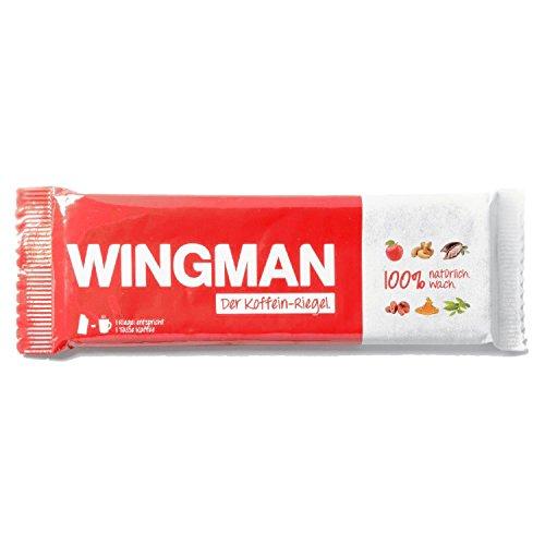 WINGMAN Koffein-Riegel (12 Riegel) - 100% natürlicher Energieriegel - mit Früchten und Nüssen - Koffeingehalt eines Riegels entspricht ca. einer Tasse Kaffee