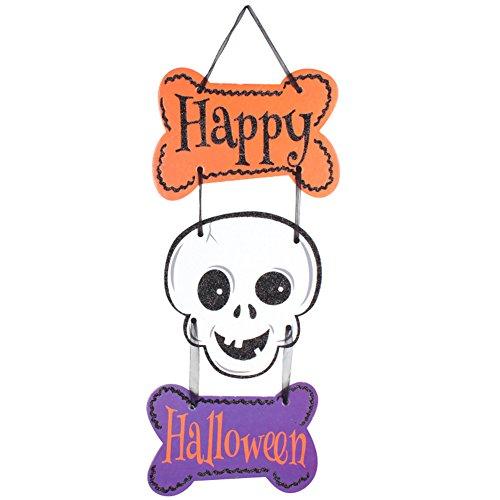 ter Halloween 3 link hängender hängender Geist Kürbis Schädel hängende Flaggen Partei Dekoration Geschenk (Kürbis-gebet)