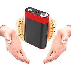 Ewarmer 780000Mah Portable Batterie Externe USB Pocket Chauffe-Main électrique réchauffeur Rechargeable (7800mAh, Black)