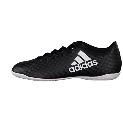 adidas X 16.4 IN, Chaussures de Foot Homme noir/blanc/noir