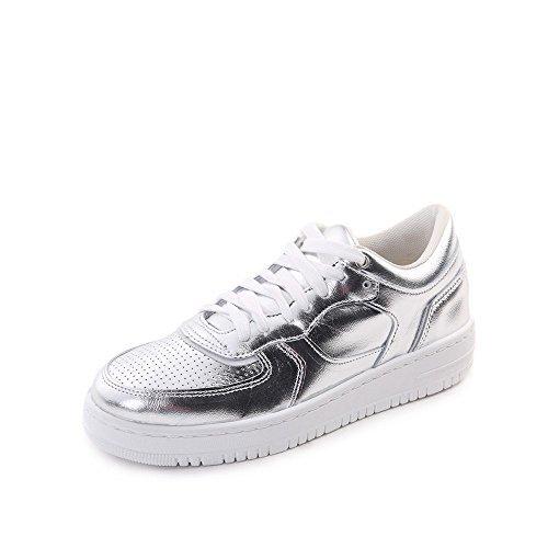 Rushour Damen Sneaker Leder 'made in Italy', Größe:39;Farbe:Silber