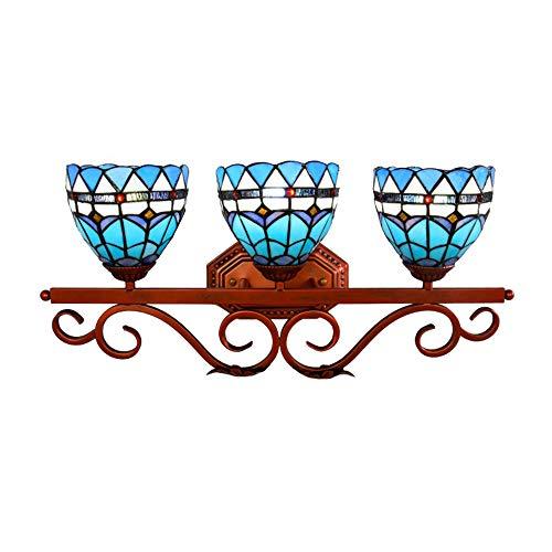 LOSA Tiffany Wandleuchte europäischen Retro kreative mediterrane Farbe Glas Badezimmerspiegel Scheinwerfer Korridor Café Schlafzimmer Wohnzimmer Bar Restaurant DREI Wandleuchte