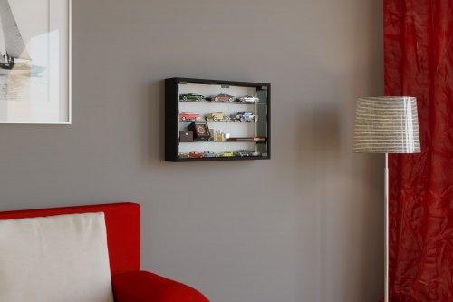 VCM mandosa M vitrina pared, madera, negro, 40x 60x 10cm