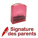 Signature des parents - Tampons Encreur pour Enseignants. Auto-encreur, Réencrable