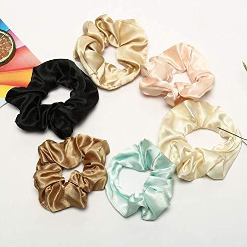 6 Pack Elastics Satin Haar Scrunchies Floral Gummibänder Haargummi Bobbles Pferdeschwanz Inhaber Haarbänder Haargummis Stirnband