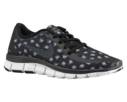 Nike W Nk Free 5.0 V4 Ns Pt, Scarpe sportive, Donna Black/Anthracite/Dark Grey/White