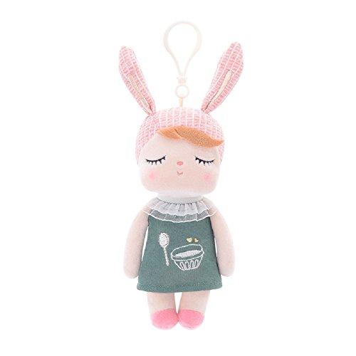 Süße Schlaf Puppe für Mädchen Mama, Metoo Schlafen Angela Girl Plüsch Kleid Bunny Kaninchen Spielzeug Puppen, Blau und Pink (18cm x 10cm x 6 cm) (18 CM, Vintage Dunkelgrün Puppe)