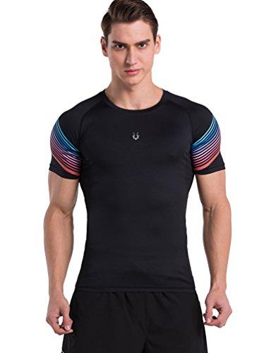red-plume-tempo-libero-sport-traspirante-ad-asciugatura-rapida-t-shirt-esercizio-uomo-in-esecuzione-