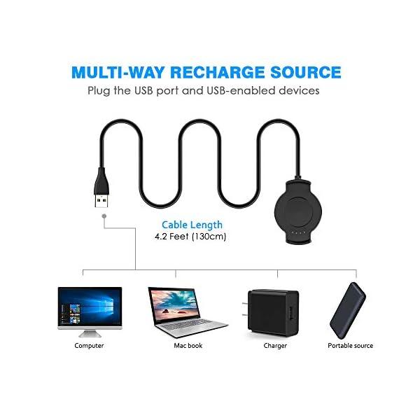 KIMILAR Cable Compatible con Huawei Watch 2 / Watch 2 Pro Cargador, [2 Pack] Base de Carga USB Compatible con Huawei… 7