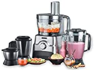 Usha FP 3811 Food Processor 1000-Watt Copper Motor with 13 Accessories(Premium SS Finish)