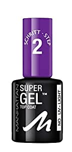 MANHATTAN Super Gel Top Coat, Farbe 001, 1er Pack (1 x 12 ml)