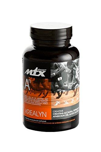 Krealyn 120 capsulas - Creatina Alcalina (pH modificado a 12), retrasa la aparición de la fatiga.