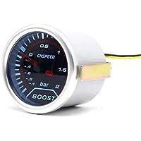 CNSPEED 12 V Auto Car LED Digital Bar Turbo Boost Gauge Meter 52mm Lente de Humo para la Reparación Universal de Modificación de Coche