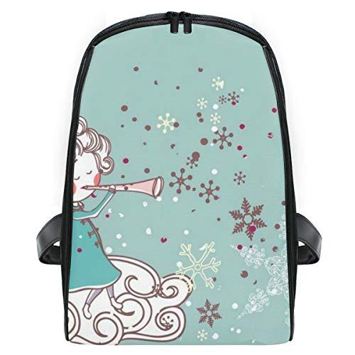 Elienono cartolina di natale angioletto,viaggi zaino borsa a tracolla,zaino in esterni scuola zaino laptop backpack per uomo e donna